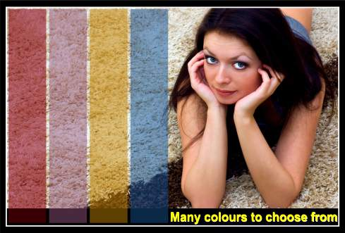 Carpet dyeing colour options